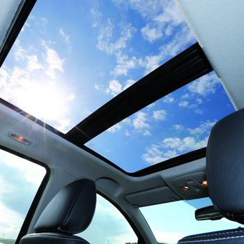 Interior View of Suzuki SX4 S-Cross showing Panoramic Glass Sunroof