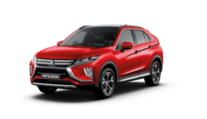 New Mitsubishi Eclipse Cross Exceed Red Diamond Front 3/4 Studio Shot