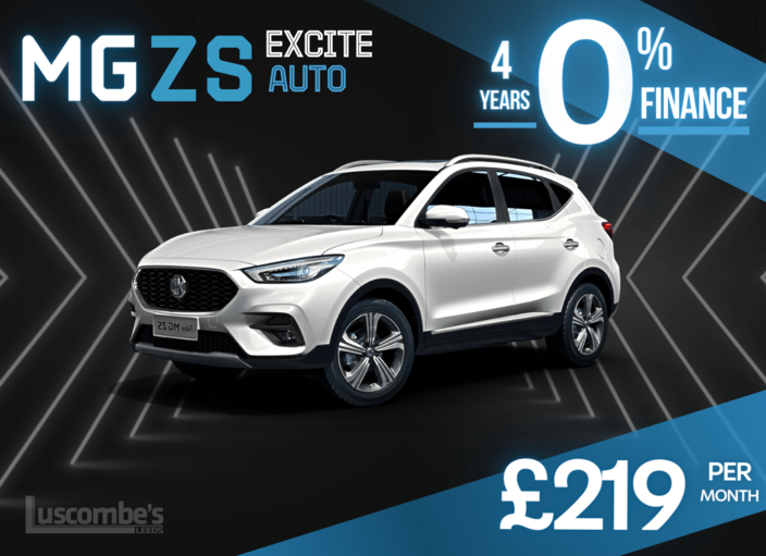 MG ZS Excite Auto with 4 years 0% Finance £242 Deposit £242 per month
