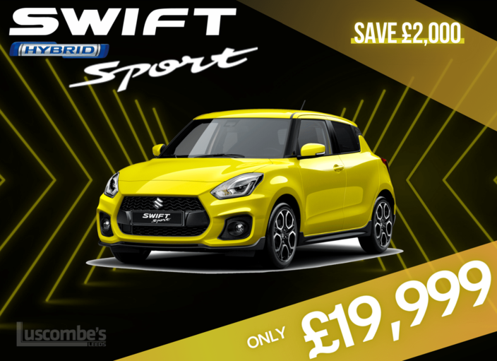 New Suzuki Swift Sport Hybrid - Only £19,999 | Luscombe Suzuki Leeds