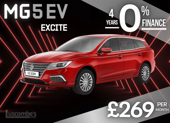 MG5 EV Excite in Red Metallic £269 per month on 4 Years 0% Finance