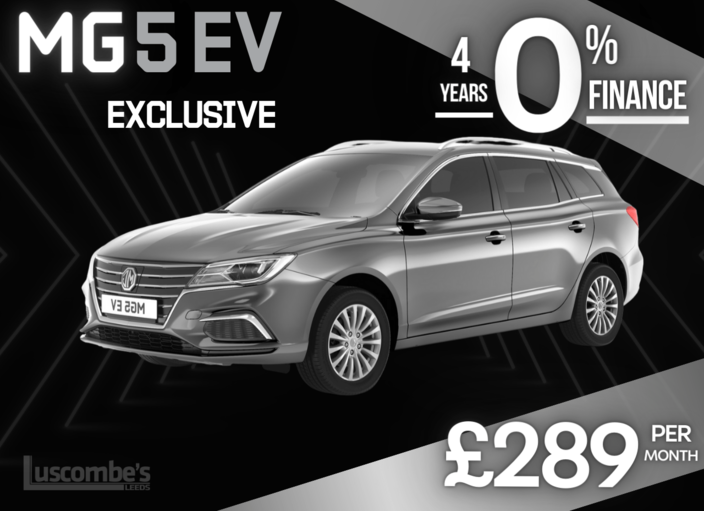 MG5 EV Exclusive in Silver Metallic £289 per month on 4 Years 0% Finance