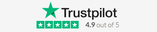 trustpilot 4.9 out of 5 review rating